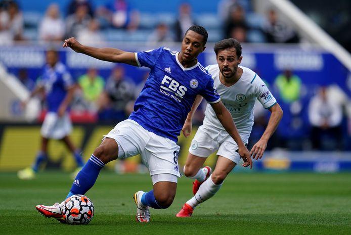 Youri Tielemans en doelpuntenmaker Bernardo Silva.