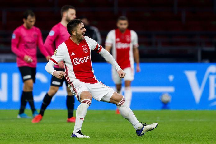 Dusan Tadic scoorde tijdens het bekerduel met FC Utrecht. Hij maakte de 4-3.