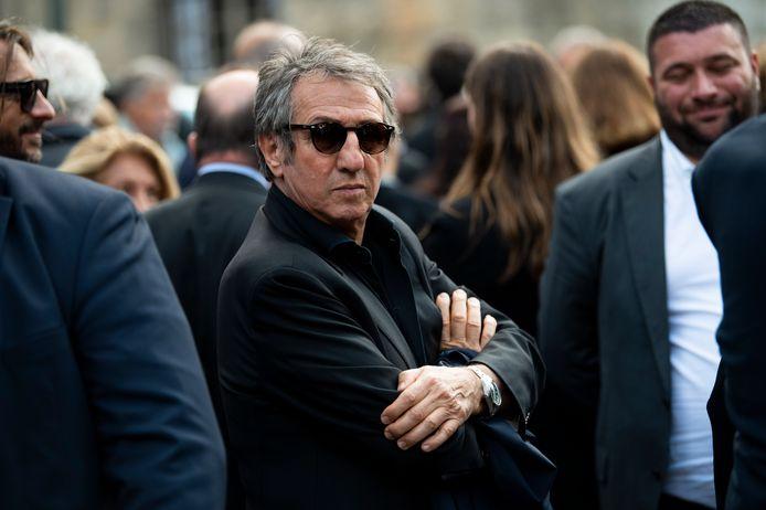 Richard Anconina aux obsèques de Jean-Paul Belmondo.