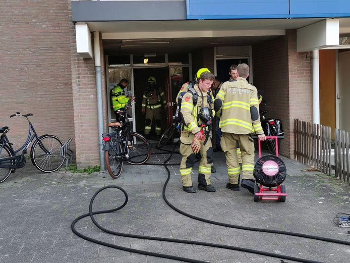 De brandweer had de brand snel geblust in de kelderbox in Ede.