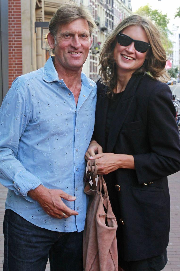 Huub van der Lubbe (L) met zijn dochter Mira. Beeld null