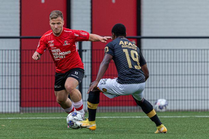 Dylan Seys wordt steeds fitter bij Helmond Sport, maar is nog niet klaar voor een basisplek.