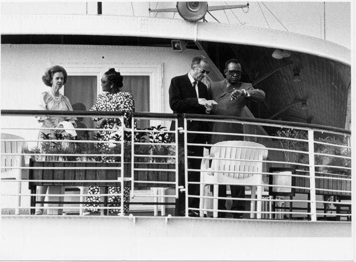 Le roi Baudouin et la reine Fabiola au Congo en 1985
