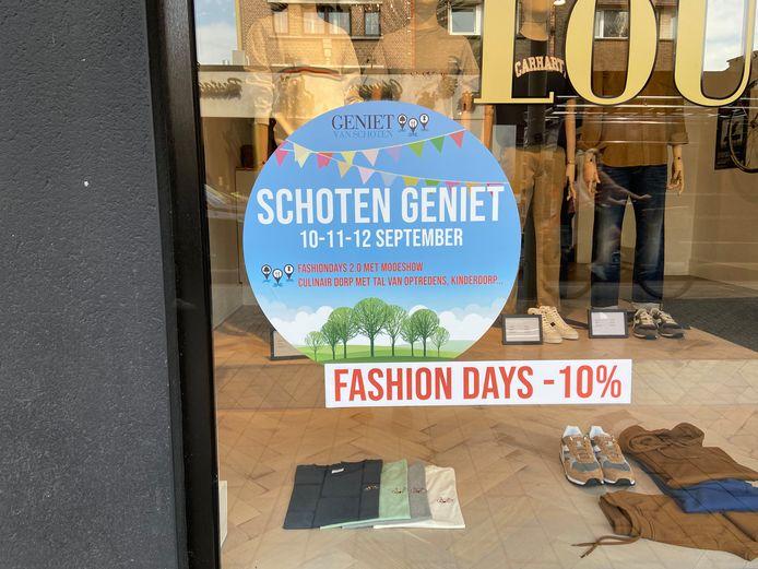 Verschillende winkels op de Paalstraat geven komend weekend tien procent korting