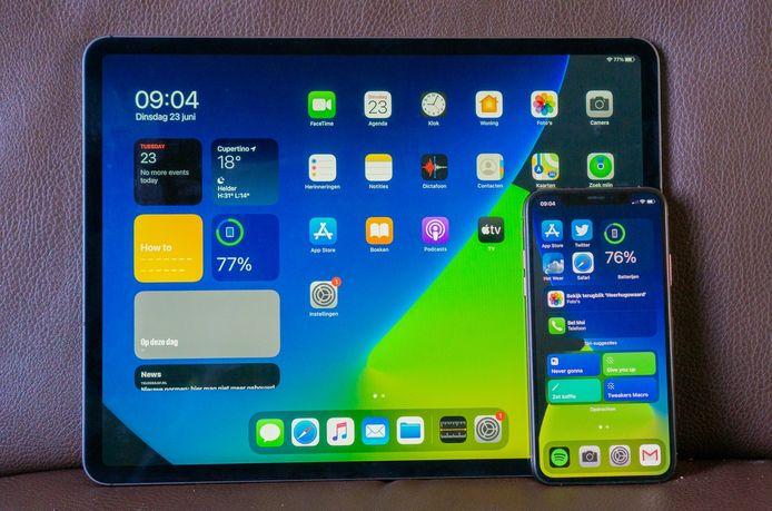 De nieuwe homescreens van de iPad en iPhone.