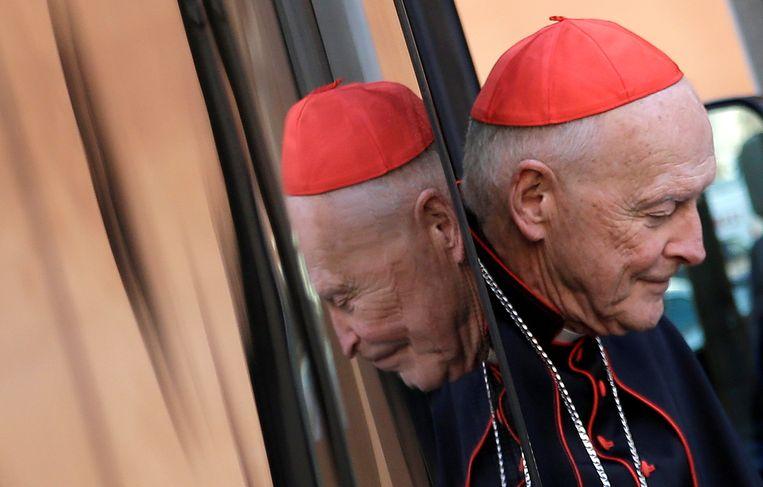 Ex-kardinaal Theodore McCarrick, hier op archiefbeeld uit 2013 toen hij nog in functie was. Beeld Reuters