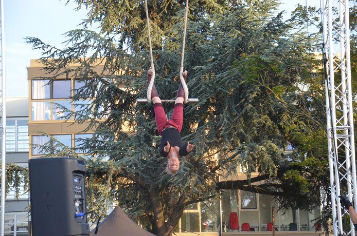 'Common Ground' tijdens circus- en straattheaterfestival 'De Donderdagen' in pop-uparena Inghelant op de OCMW-site in Ninove.