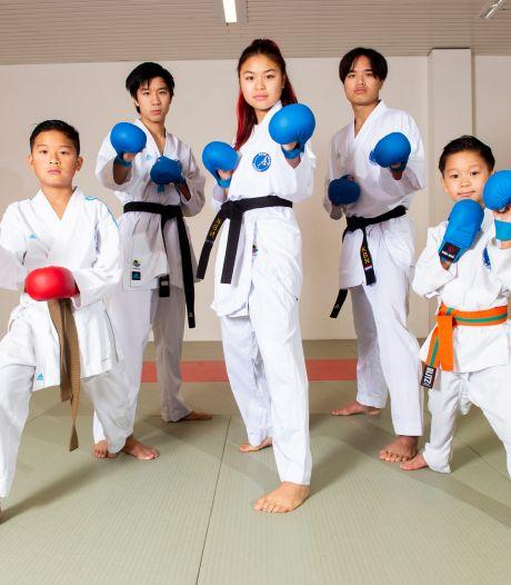 Aan deze vijf karateka's uit één Apeldoorns gezin gaat Nederland nog veel plezier beleven, belooft hun coach