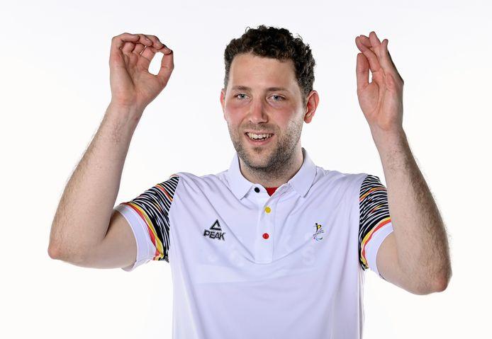 Rob Eijssen tijdens een fotoshoot voor het  'Belgian Olympic Committee BOIC'.