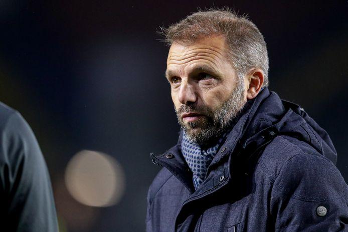 Trainer Maurice Steijn vervult ook de rol van technisch manager.