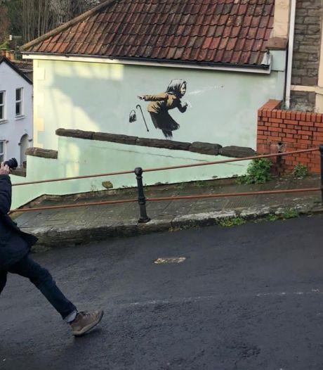 Une œuvre à la Banksy apparaît à Bristol