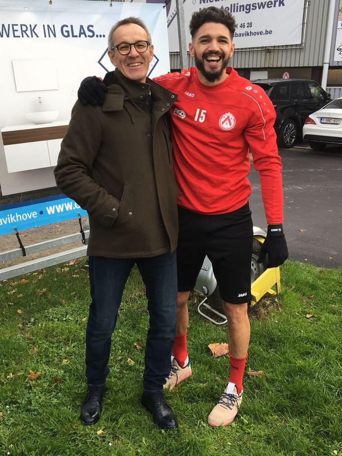 De nieuwe sportief directeur Rik Foulon met de revaliderende Elohim Rolland.