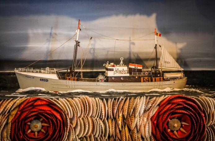 Een maquette van het schip.