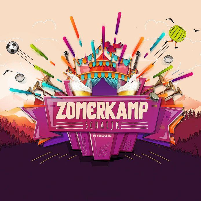 Een affiche van Zomerkamp Schaijk.