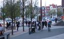 Commotie na de schietpartij op het Stadhuisplein.