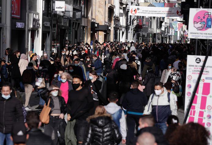 La rue Neuve à Bruxelles (photo d'illustration)