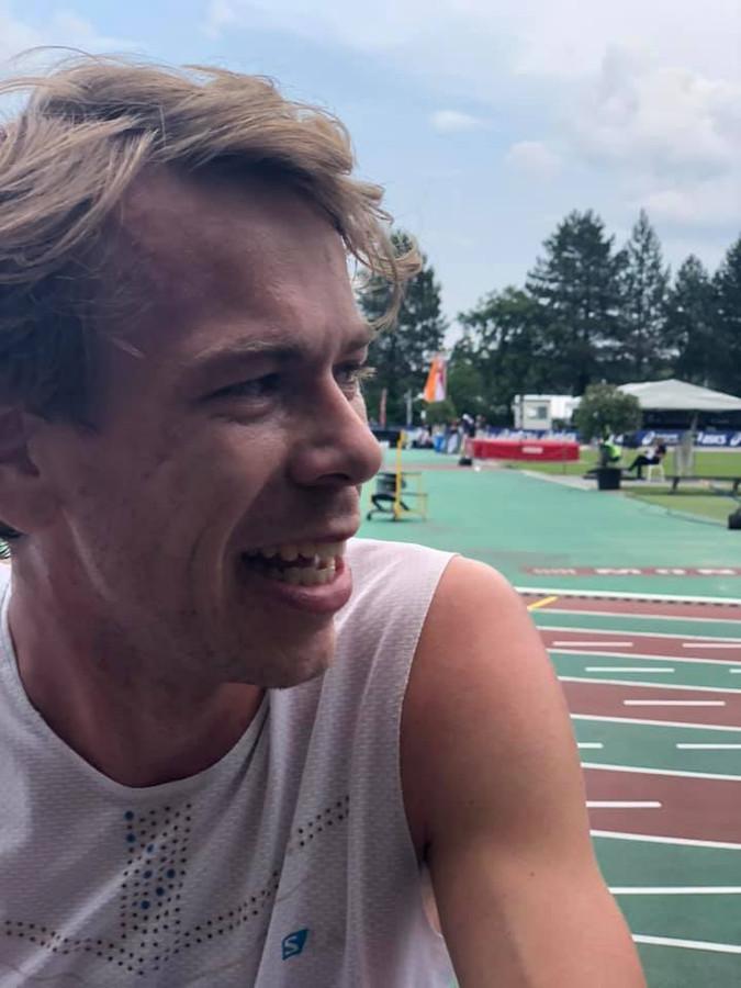 Tim van den Broeke na zijn recordrace.