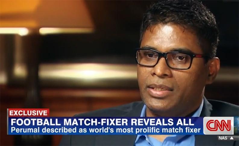 Matchfixer Wilson Raj Perumal bij CNN.