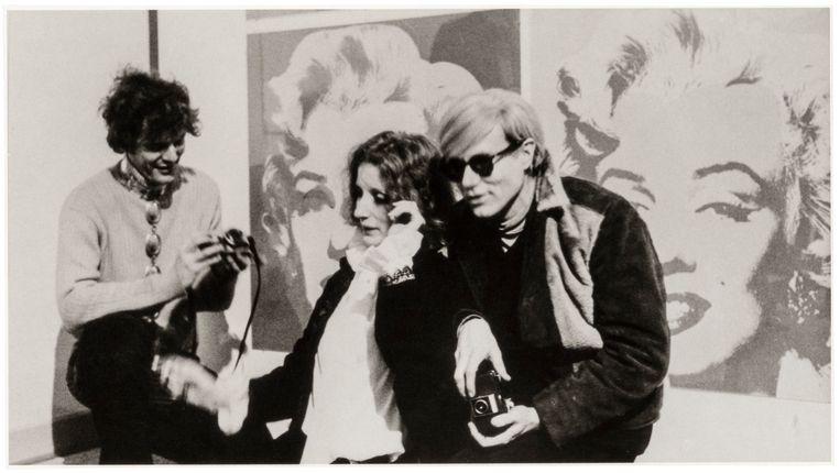 Andy Warhol in Stockholm, 1968. Beeld Moderna Museet Stockholm