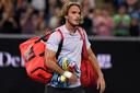 Stefanos Tsitsipas na zijn nederlaag tegen Milos Raonic op de Australian Open begin dit jaar.