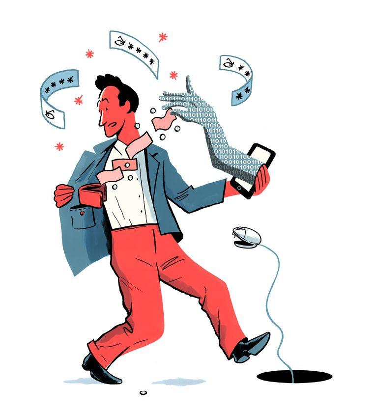 'In andere landen bellen banken hun klanten op als ze plots rare uitgaven detecteren op hun rekening' Beeld Jeroen Los