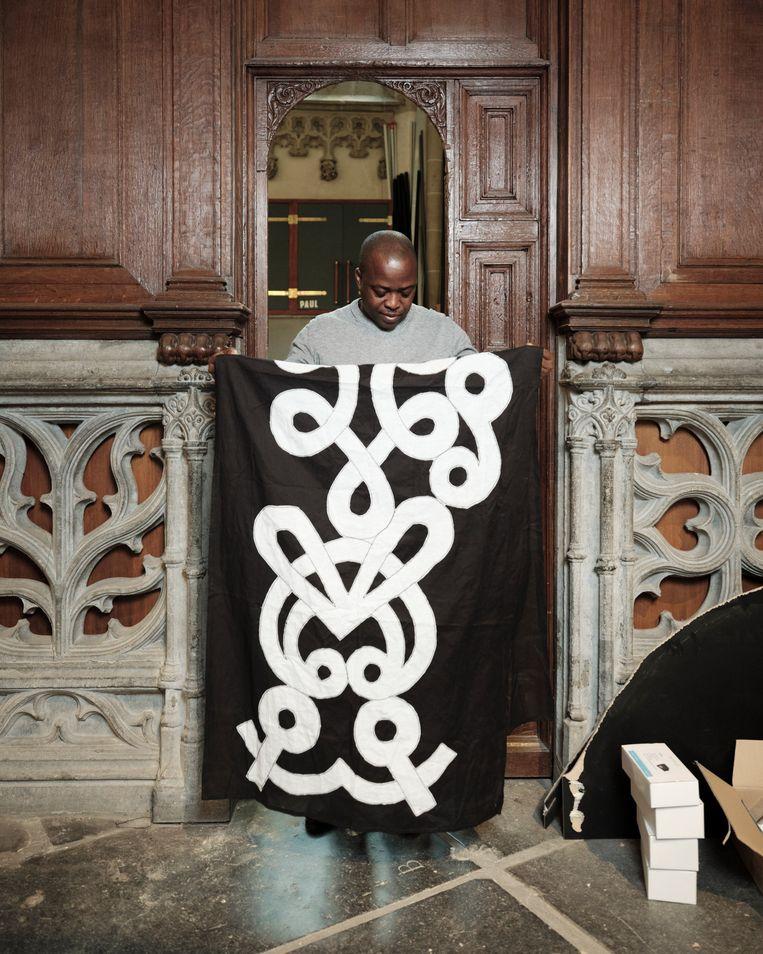 Marcel Pinas in de Nieuwe Kerk in Amsterdam Beeld Erik Smits