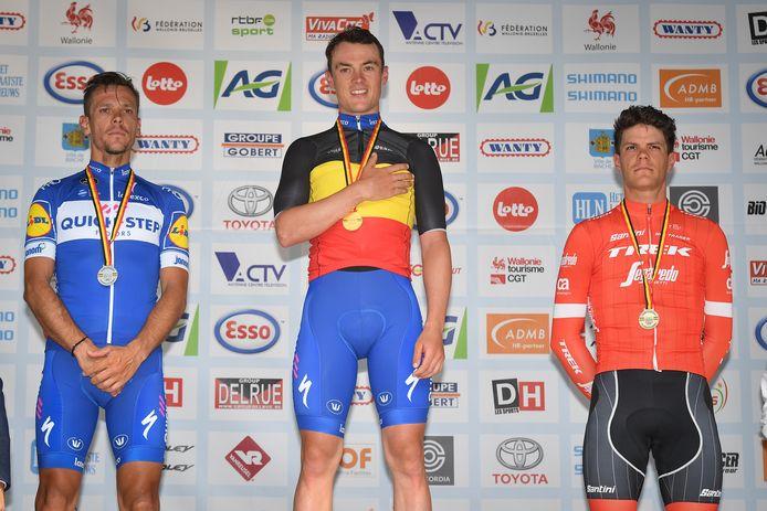 Yves Lampaert werd in 2018 Belgisch kampioen op de weg in Binche.
