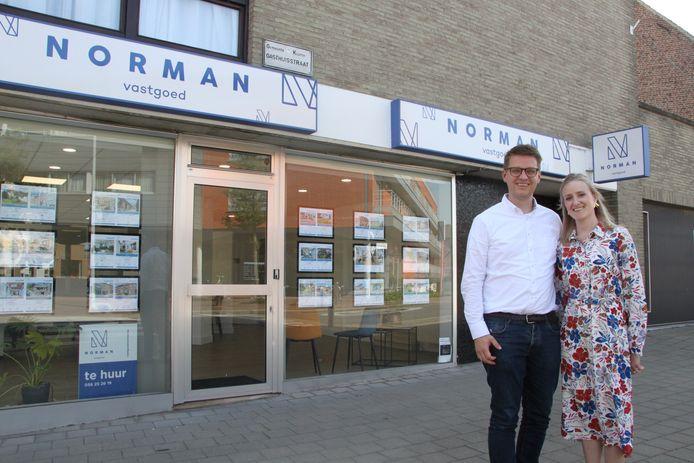 KUURNE: Norman Velghe en zijn echtgenote Annelore De Vriese van Norman Vastgoed.