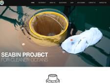 Drijvende prullenbakken slurpen Vlissingse Binnenhaven schoon