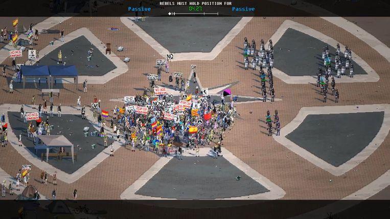 In 'Riot: Civil Unrest' leidt u een betoging of de politiemacht die ervoor moet zorgen dat ze niet ontspoort. Beeld IV Productions