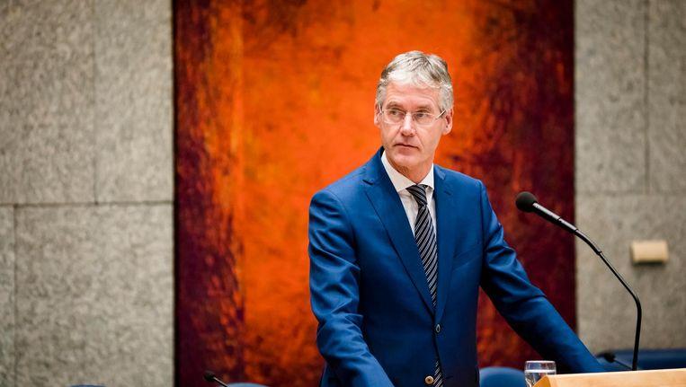 Minister Arie Slob in de Tweede Kamer. Beeld anp