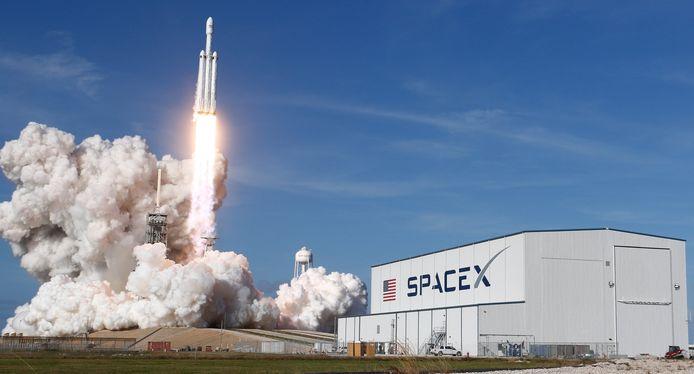 De Falcon Heavy-raket van SpaceX.