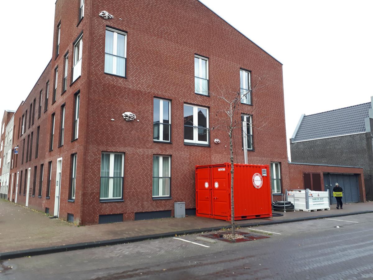 De huizen aan het Veluwemeer worden tijdelijk verwarmd met een noodketel.
