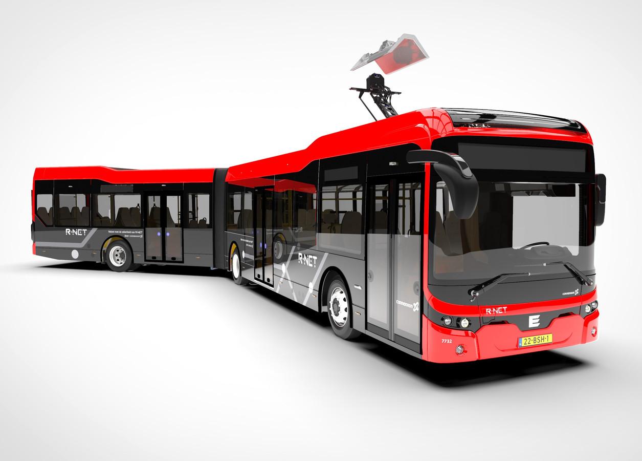 Een elektrische bus van Ebusco.