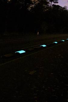 Glow-in-the-darkfietspad in Laarbeek
