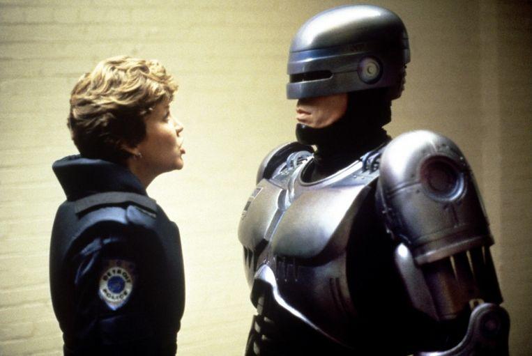 Nancy Allen en Peter Weller in RoboCop van Paul Verhoeven Beeld