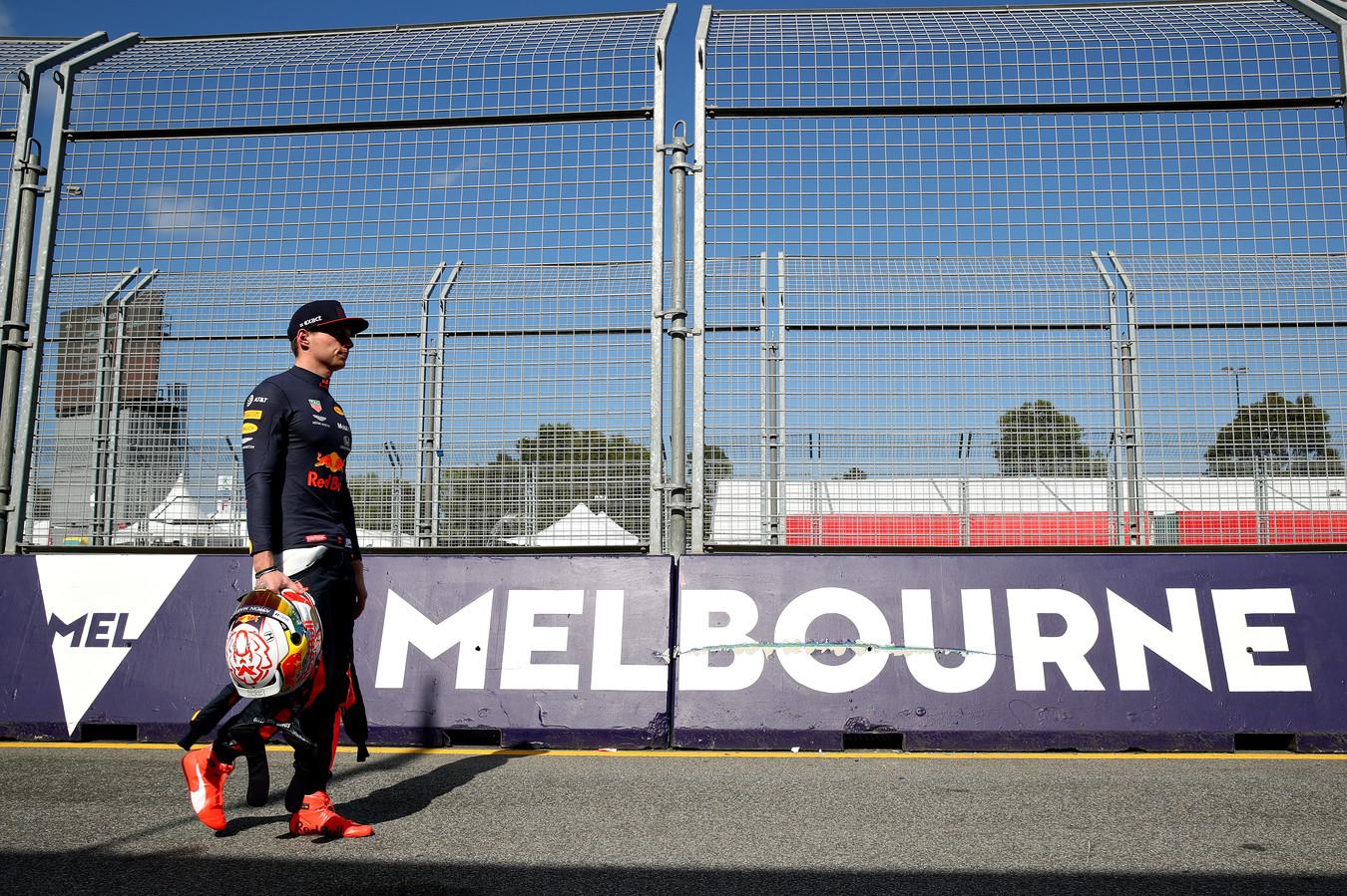 Max Verstappen in Melbourne.