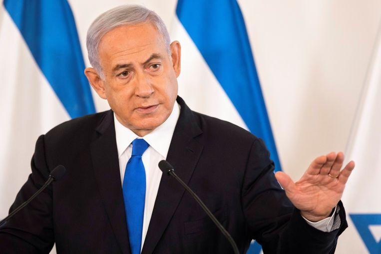 Benjamin Netanyahu spreekt Israëlische ambassadeurs toe. Beeld Reuters