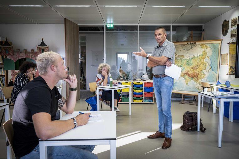 Studenten beginnen aan hun pabo-opleiding in Alkmaar. Beeld ANP