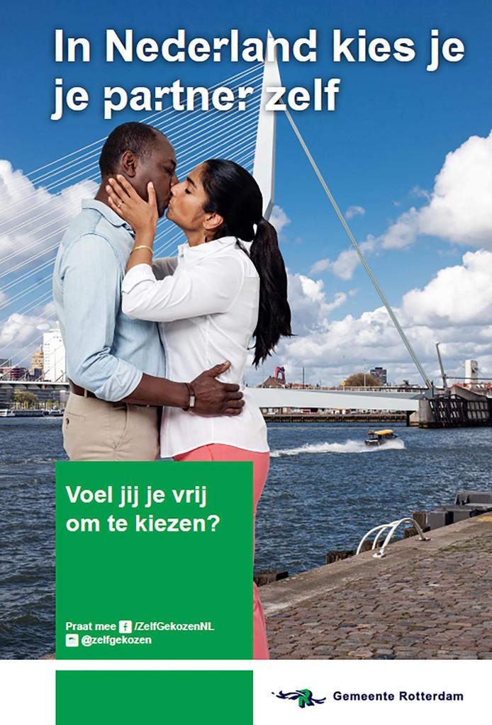 Poster gemeente Rotterdam: In Nederland kies je je partner zelf