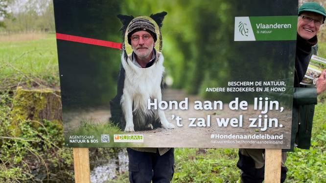Natuurvereniging vzw Durme stimuleert de hond aan te lijnen met ludieke actie