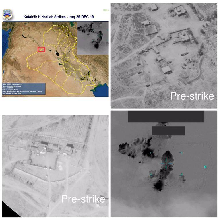 Foto's van de Amerikaanse luchtaanvallen.