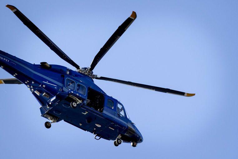 Bij de arrestaties in Eindhoven gebruikte de politie een helikopter van de Dienst Speciale Interventies (DSI).  Beeld ANP