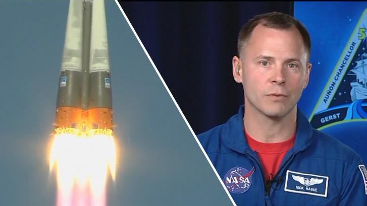 NASA-astronaut Nick Hague over noodlanding