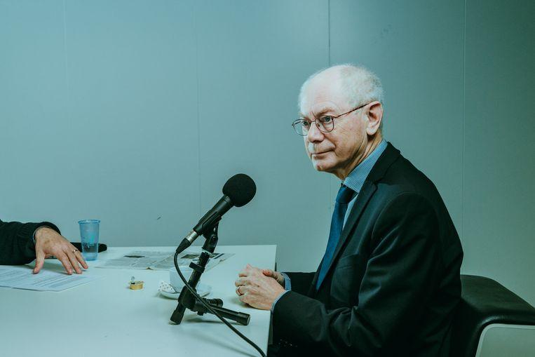 Herman Van Rompuy. Beeld Illias Teirlinck