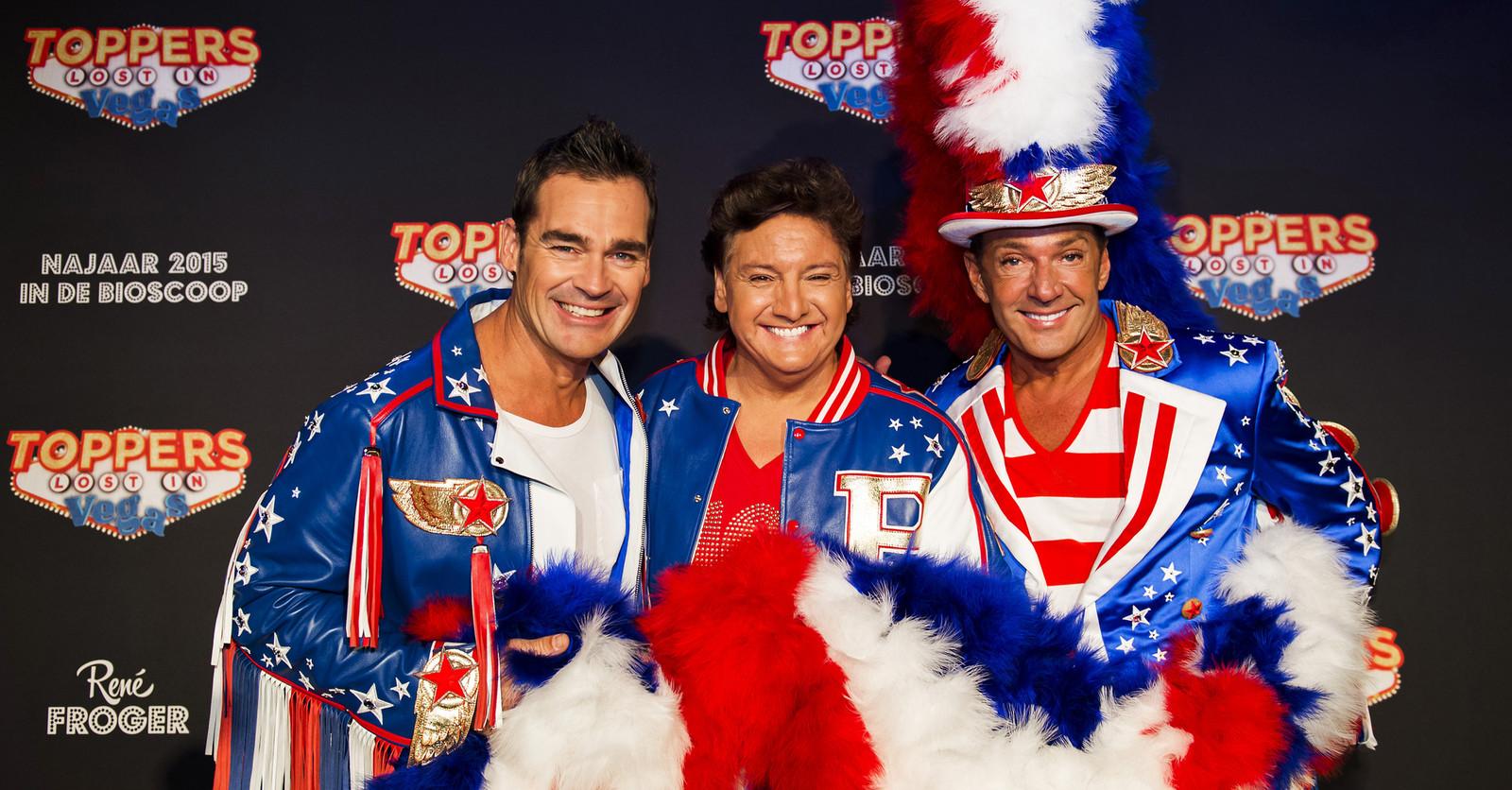 Huidige formatie van de Toppers: Jeroen van der Boom, René Froger en Gerard Joling