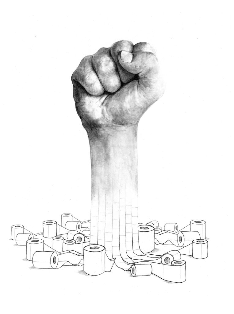 Van individualisme naar solidariteit: samen maken we een vuist tegen corona, samen krijgen we corona eronder en samen voor de samenleving.  Beeld Mikko Kuiper