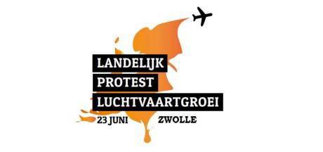 Landelijke actiedag in Zwolle tegen groei luchthavens