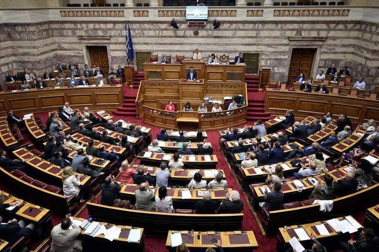 Archiefbeeld: De beweging Syriza van de Griekse premier Alexis Tsipras valt uit elkaar. Zo'n 25 parlementariërs richten vrijdag een eigen partij op.