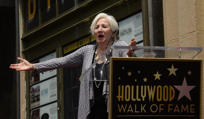 De Amerikaanse actrice Olympia krijgt een ster in the Hollywood Walk of Fame in 2013.